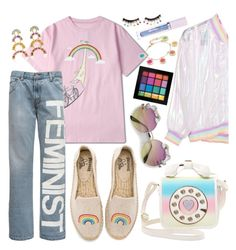 pastel pride by isabellaobrien15 on Polyvore featuring polyvore, Mode, style, Soludos, Betsey Johnson, Brent Neale, Marc Jacobs, NYX, Lime Crime, FromNicLove, fashion and clothing