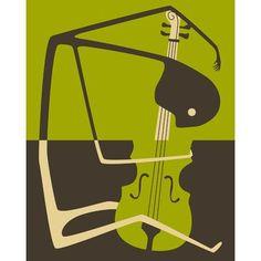 PrestigeArtStudios Cello Graphic Art