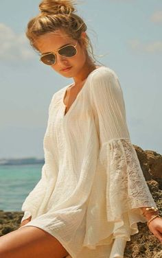 Casual is always best White Lace Sleeveless Casual Dress