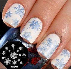 Nail Art Stamping Plate Image Stamp Template Cute Snowflake Nail ...