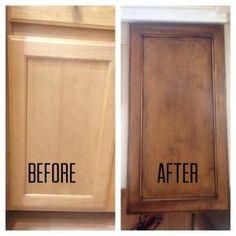 Builder grade oak cabinets with pickled oak stain before - Builder grade oak kitchen cabinets ...