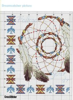 ru / Foto # 1 - Dreamcatcher - Irisha-ira A) Cross Stitch Books, Cross Stitch Needles, Cross Stitch Charts, Cross Stitch Designs, Cross Stitch Patterns, Needlepoint Patterns, Embroidery Patterns, Cross Stitching, Cross Stitch Embroidery