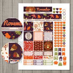 NOVEMBER Happy Planner November Monthly Kit Mambi November