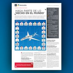 Page to the last edition the #procolombia #newspaper #Exportador #design #editorial #feb #2015 #layout #Trend #macrorrueda #publication #style