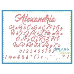 Alexandria Embroidery Font