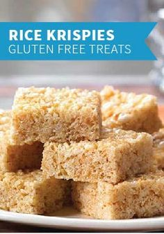 Rice Krispies Gluten Free Treats – Made with Rice Krispies Gluten Free cereal, gluten-free marshmallows, and margarine, this recipe lets your kids enjoy the timeless taste of Rice Krispies Treats.