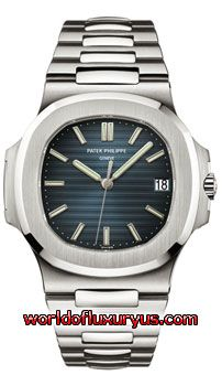 5711-1A-010 - This Patek Philippe Nautilus Mens Watch, 5711-1A-010 features 43.0 mm Stainless Steel case, Blue dial, Sapphire crystal, Fixed bezel, and a Stainless Steel Bracelet. Patek Philippe Nautilus Mens Watch, 5711-1A-010 also features Automatic Movement, Analog display, Date at 3 o'clock. This watch is water resistant up to 120m / 400ft. - See more at: http://www.worldofluxuryus.com/watches/Patek-Philippe/Nautilus/5711-1A-010/46_58_8046.php#sthash.SK2x1vd7.dpuf