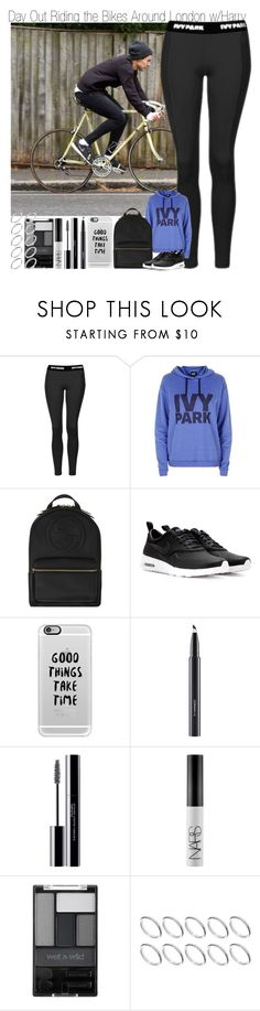 """Day Out Riding Bikes Around London with Harry"" by elise-22 ❤ liked on Polyvore featuring Topshop, Gucci, NIKE, Casetify, MAC Cosmetics, shu uemura, NARS Cosmetics, Wet n Wild and ASOS"