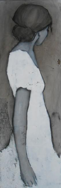 sans titre Carine b, (France 1973) Painting People, Figure Painting, Figure Drawing, L'art Du Portrait, Portraits, Bd Art, Pretty Art, Life Drawing, Face Art