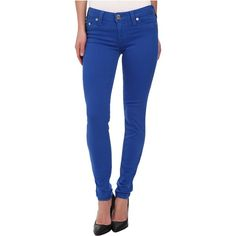 True Religion Halle Super Skinny Leggings in Royal Blue Women's Jeans,... ($72) ❤ liked on Polyvore