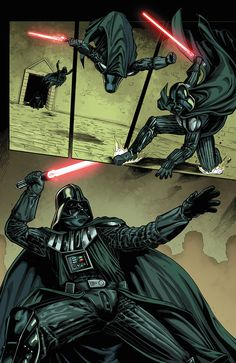 """Page 21 of Darth Vader and the Assassin Art by Denis """"DYM"""" Freitas Anakin Vader, Vader Star Wars, Star Wars Art, Darth Vader, Anakin Skywalker, Star Wars Jokes, Star Wars Comics, Images Star Wars, Star Wars Pictures"""