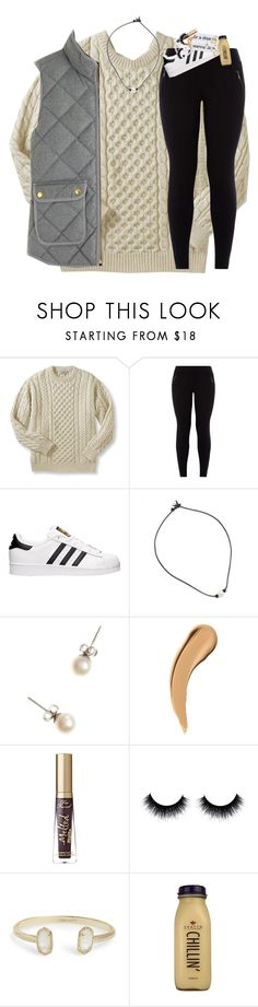 """""""difficult roads often lead to beautiful destinations"""" by classynsouthern ❤ liked on Polyvore featuring New Look, adidas, J.Crew, Too Faced Cosmetics, Kendra Scott and CO"""