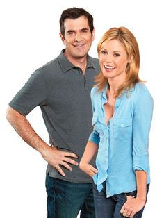 Ty Burrell and Julie Bowen as Phil and Claire Dunphy