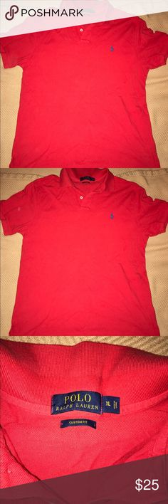 Polo top sz XL Great condition red Ralph Lauren Polo top sz XLarge. Just needs to be ironed. Smoke and pet free home. Please feel free to ask questions before purchasing. Polo by Ralph Lauren Shirts Polos