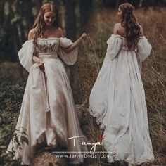 Fairytales Champagne dramatic Puff sleeves Wedding Dresses – Eternally Yours C. - - Fairytales Champagne dramatic Puff sleeves Wedding Dresses – Eternally Yours Custom Bridals Source by Boho Wedding Gown, Sweetheart Wedding Dress, Dream Wedding Dresses, Bridal Dresses, Fairy Wedding Dress, Medieval Wedding Dresses, Boho Gown, Lace Wedding, Wedding Outfits