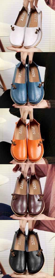 US$14.78 Big Size Soft Multi-Way Wearing Pure Color Flat Loafers_Plus Size Fashion Women Summer Flats_ Womens Shoes Flats