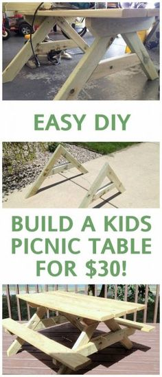 PICNIC TABLE DIY