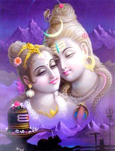 Lord Shiva and Parvati (via Crafts of India)