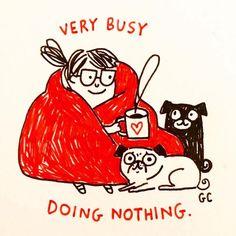 Doing nothing. ❤ Ilustración de Gemma Correll - - (@gemmacorrell ) - -