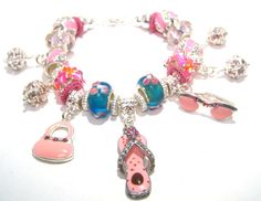 Spring Charm Bracelet Girls Just Want to Have by BrankletsNBling,