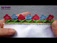 Fıstık Çiçekli Oya Yapımı - YouTube