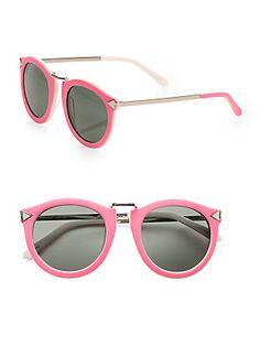 Karen Walker Harvest Round Acetate #Sunglasses #saks #saksfifthavenue