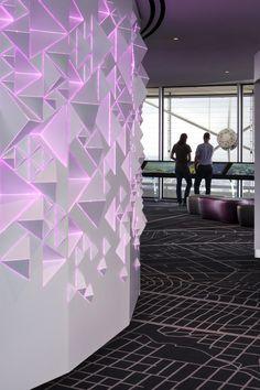 Amuneal: Magnetic Shielding & Custom Fabrication   Reunion Tower Illuminated Core Wall