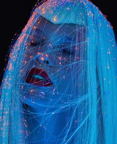 For lucysmagazine Photo tuponogova_volkova Make-up Vlasova Natalia Shinee, Photoshop, Hair Art, Cyberpunk, Art Inspo, Futuristic, Art Reference, Art Photography, Stunning Photography