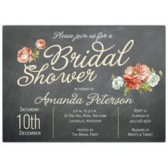 Finchley Cream Bridal Shower Invitations