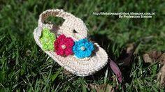 Baby crochet sandals step by step Sapatinhos Para Bebê - Life Baby: Passo a passo Sandália Primavera em Crochê
