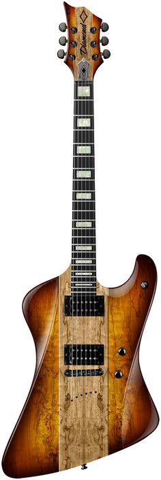 2015 Diamond Guitars Hailfire SM Electric Guitar - Trans Caramel