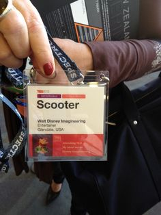 "Scooter's badge! Call it ""Muppets Take TED."" Read what he said onstage: http://wp.me/p10512-ez3"