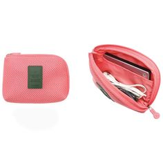 L Shape, Baby Shoes, Cable, Pouch, Coral, Gifts, Easy Access, Charger, Usb