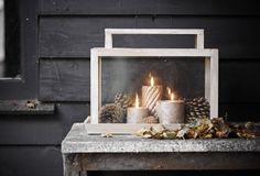 Ik zou m wel binnen zetten ;) misschien met lichtjes op batterij aan de onderkant. . Beetje mos.. dennenappels en mooie kaarsen.. #pascalle