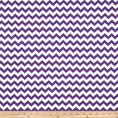 Chevron Purple from @fabricdotcom  Designed for Richard Rosnel, Inc., this cotton print fabric is perfect for crafts, quilting, apparel and home décor accents. The chevron stripe is vertical to the selvedge.