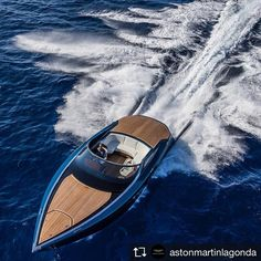 @astonmartinlagonda UNVEILED: The 37-foot Aston Martin AM37 powerboat made its world debut at the Monaco Yacht Show this morning #astonmartin #AM37 #luxury #design
