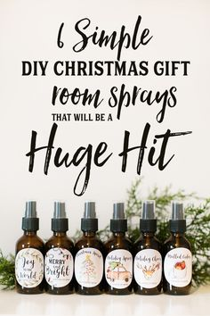 Check out these adorable DIY Christmas gifts room sprays with Essential Oils. The Free printable Christmas gift labels. I can't wait to give these as DIY Christmas gifts for teachers. sign up for wholesale membership and get your essential oils with By Oi
