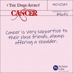 Daily astrology fact from The Daily Astro! Cancer, have you seen today's horoscope???   Visit iFate.com now!