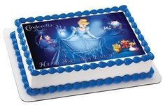 Cinderella 3 Edible Birthday Cake OR Cupcake Topper – Edible Prints On Cake (EPoC)