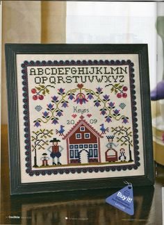 Gallery.ru / Фото #34 - Cross Stitcher №210 - Orlanda; A Family Affair; primitive sampler pattern; beautiful.