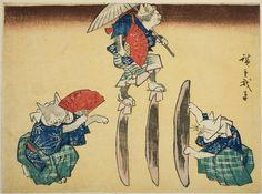 Cats as Acrobats | Ando Hiroshige I (1797-1858) Edo period, Art Institute of Chicago