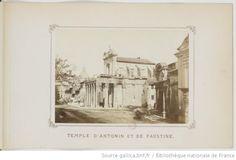 A. Bertrand, Temple d'Antonin et de Faustine,  Album artistique. Vues photographiques des principaux monuments de Rome