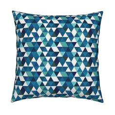 indigo triangles // small by ivieclothco