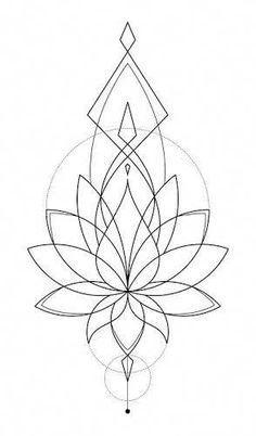 Image result for geometric lotus tattoo #Mandalatattoo
