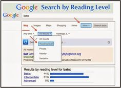 Cool Tools for Century Learners: Search by Reading Level Without Twurdy Google For Kids, Google Advanced, 21st Century Learning, Google Search Results, Verbatim, Search Tool, Image Map, Reading Levels, Cool Tools