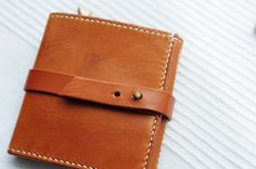 Hand Stitched Light Brown Leather Wallet