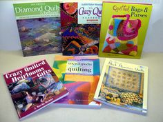 Quilt book lot-quilt book collection-quilting books-quilted bags purses book-crazy quilt book-encyclopedia of quilting-antique quilts by BECKSRELICS on Etsy