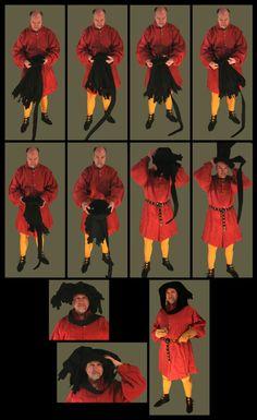 Medieval Clothing and Footwear- Wool Hood