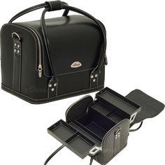 Black Roll Top Makeup Case - C3025 - salonhive.com