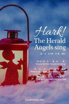 music notes for newbies: Hark! The Herald Angels Sing – Traditional. Play popular songs and traditional music with note letters for easy fun beginner instrument practice - great for flute, piccolo, recorder, piano and Piano Sheet Music Letters, Piano Music Easy, Piano Music Notes, Simple Piano, Christmas Piano Music, Song Notes, Best Piano, Playing Piano, Piano Lessons